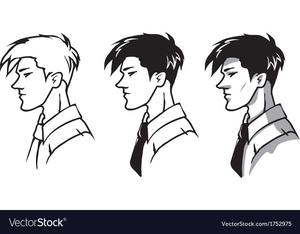 Profile of man vector | Price: 1 Credit (USD $1)