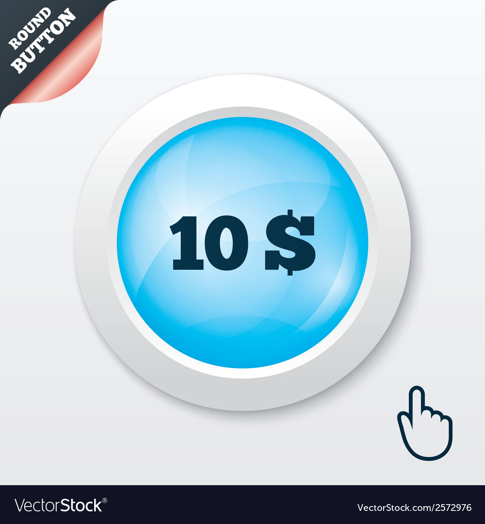 10 dollars sign icon usd currency symbol vector | Price: 1 Credit (USD $1)