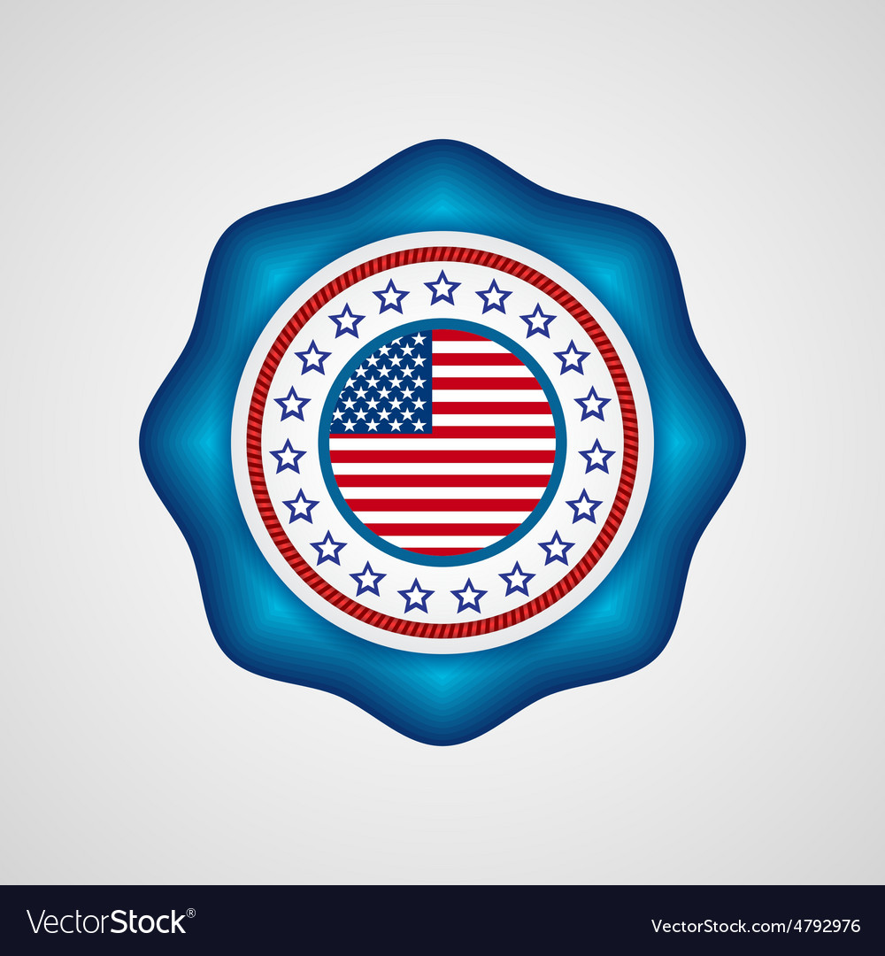 American independence day holiday badge vector | Price: 1 Credit (USD $1)