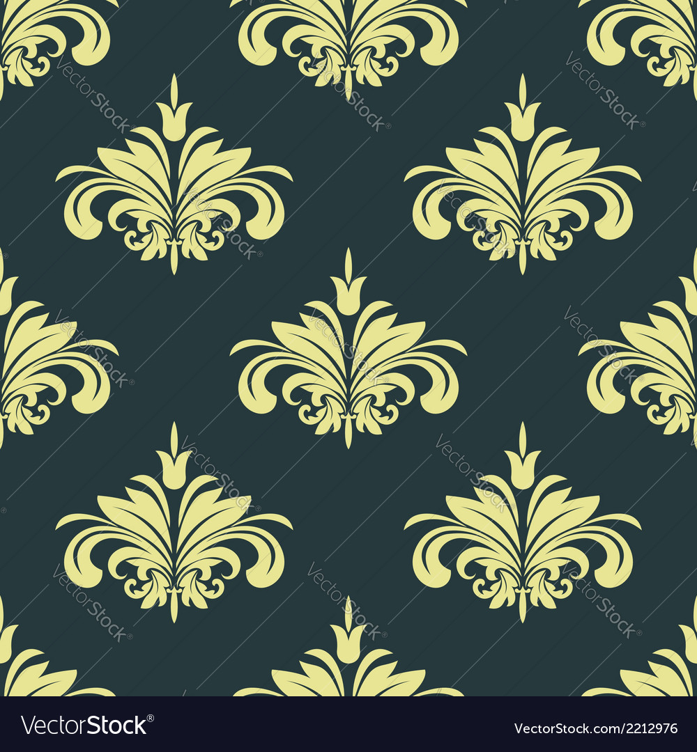 Arabesque damask style seamless background pattern vector | Price: 1 Credit (USD $1)