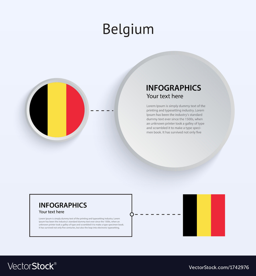 Belgium country set of banners vector | Price: 1 Credit (USD $1)