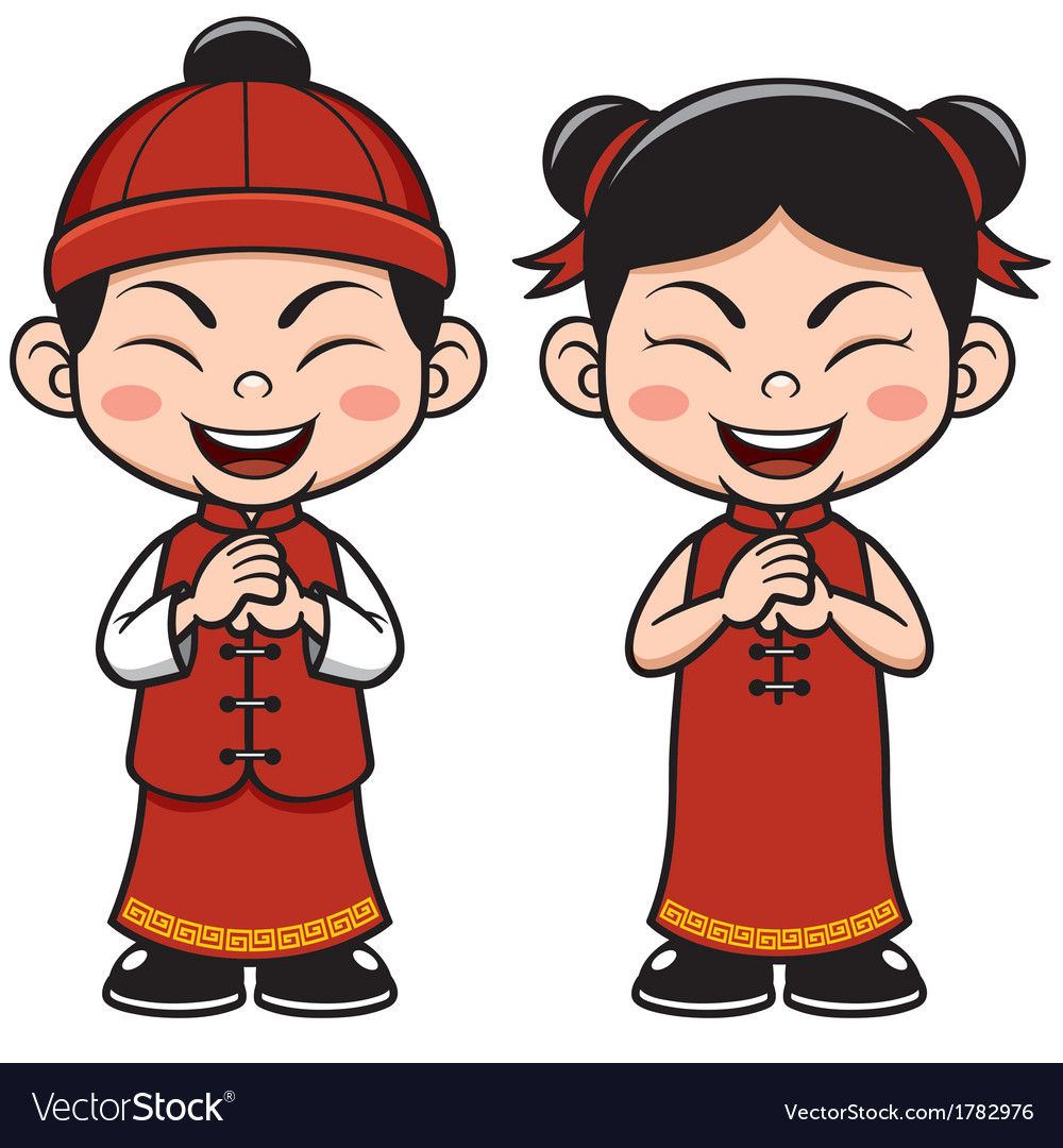 Chinese kids vector | Price: 1 Credit (USD $1)