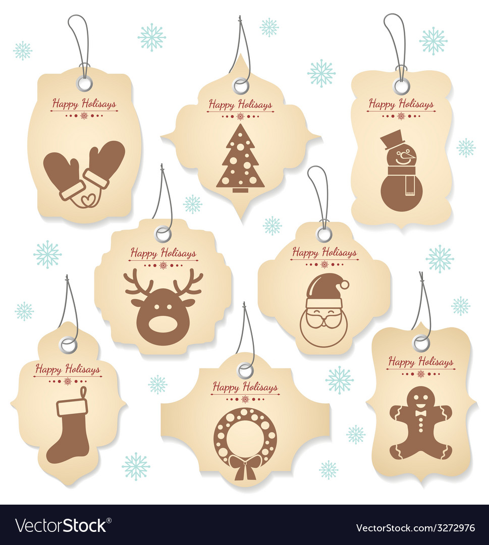 Christmas tag labels vector | Price: 1 Credit (USD $1)