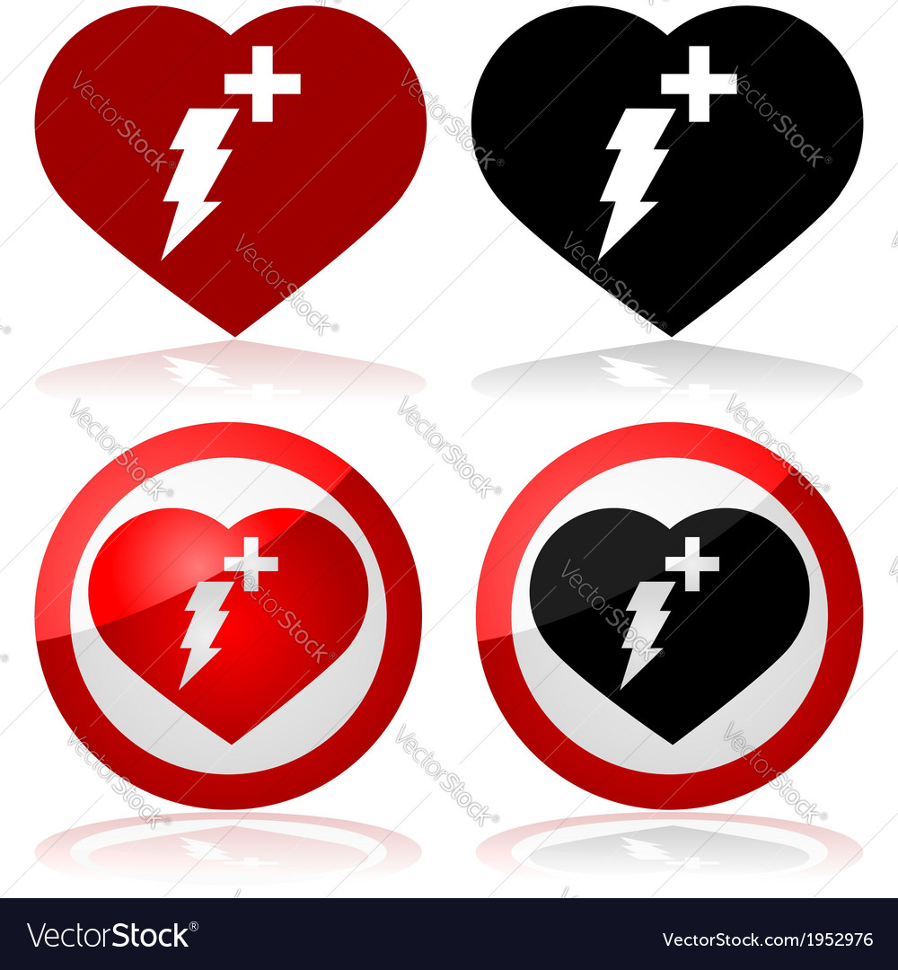 Defibrillator icons vector | Price: 1 Credit (USD $1)