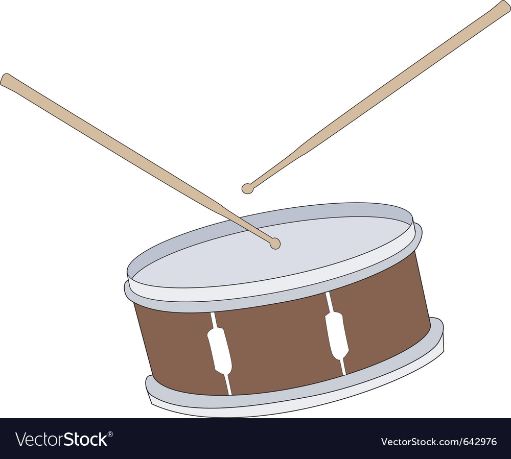 Drum with drumsticks vector | Price: 1 Credit (USD $1)