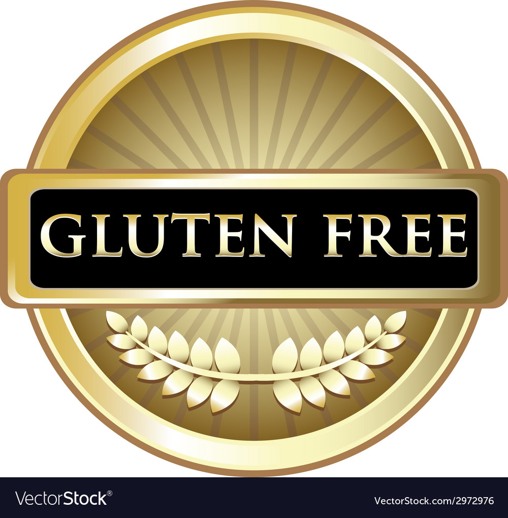 Gluten free gold label vector | Price: 1 Credit (USD $1)