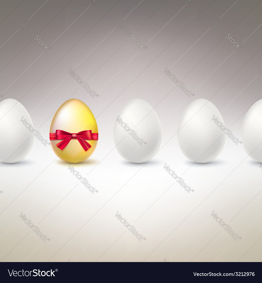 Golden egg difference uniqueness concept image vector | Price: 1 Credit (USD $1)