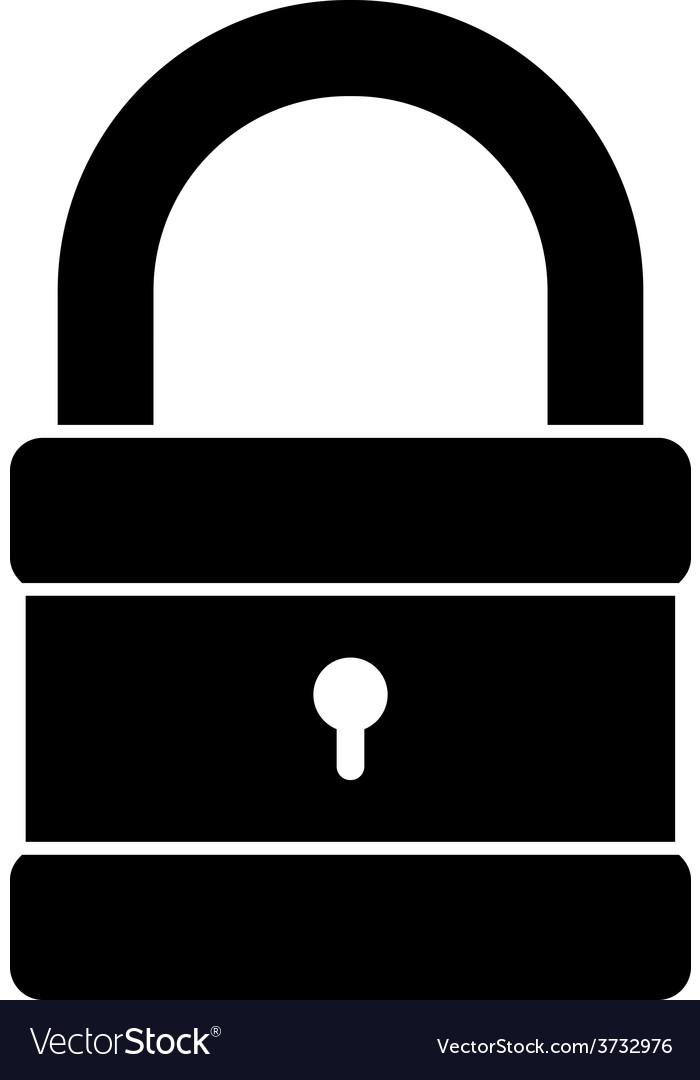 Icon of padlock vector | Price: 1 Credit (USD $1)