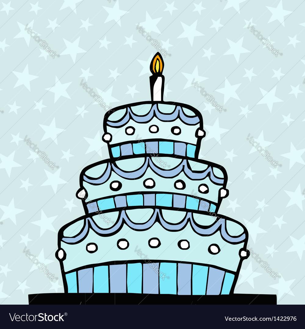 Light blue birthday cake vector   Price: 1 Credit (USD $1)