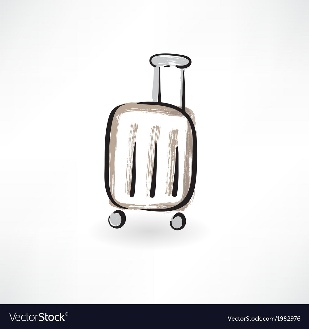 Luggage grunge icon vector | Price: 1 Credit (USD $1)