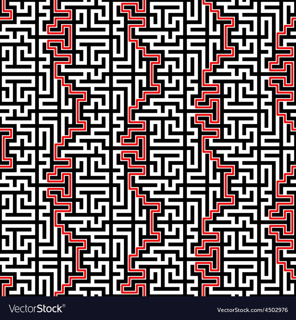 Maze seamless pattern vector   Price: 1 Credit (USD $1)