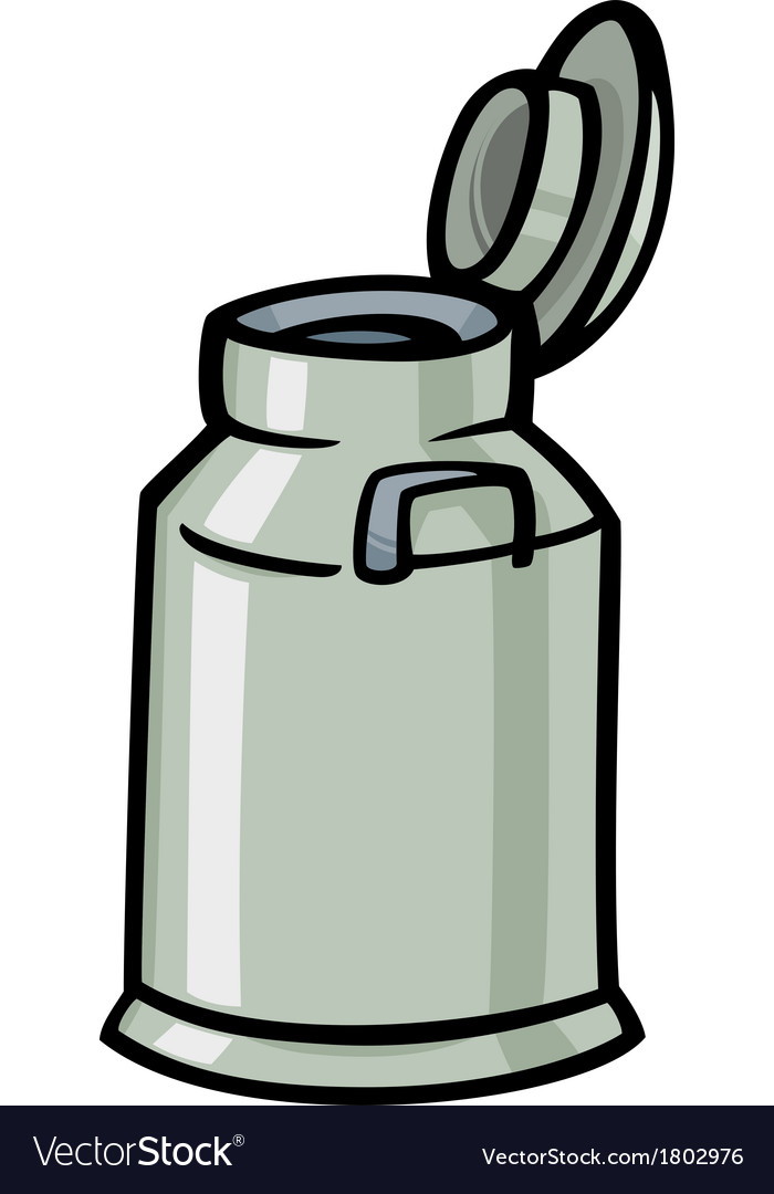 Milk can or churn cartoon clip art vector | Price: 1 Credit (USD $1)