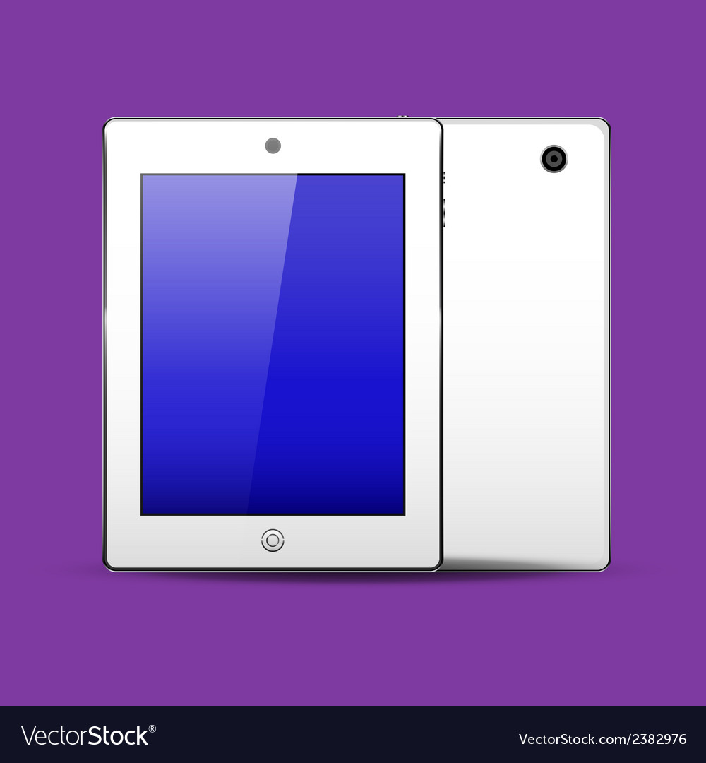 Tablet pc white color vector | Price: 1 Credit (USD $1)