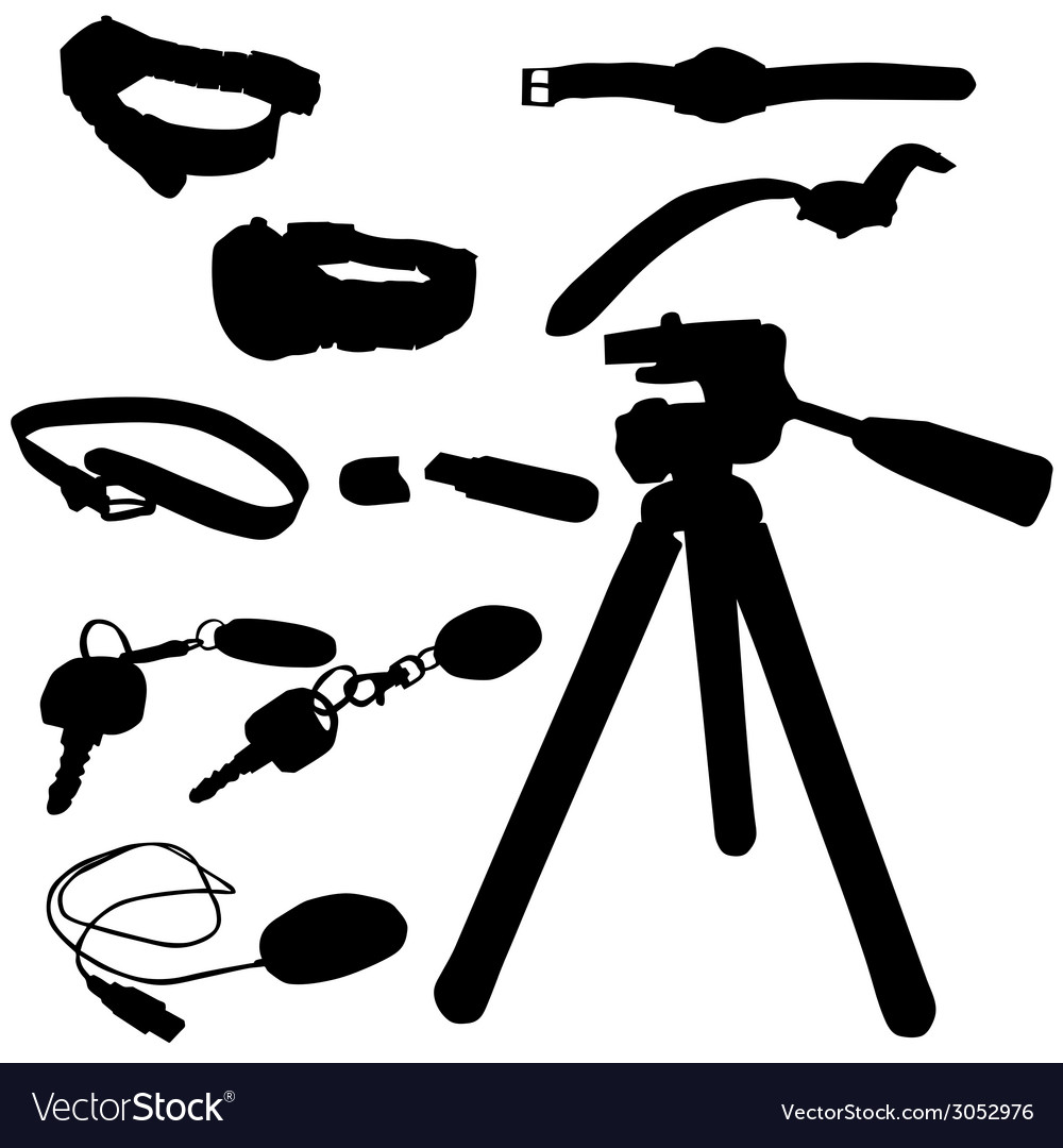 Watch and miscellaneous items vector | Price: 1 Credit (USD $1)