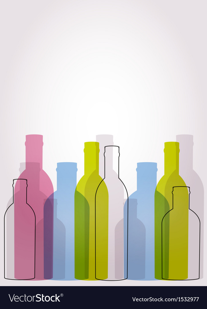 Abstract background with glass bottles vector | Price: 1 Credit (USD $1)