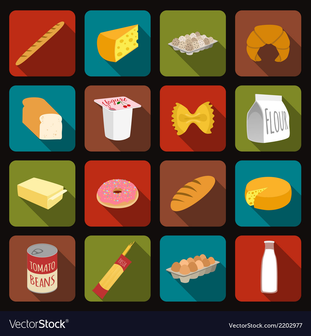 Food icons set vector   Price: 1 Credit (USD $1)