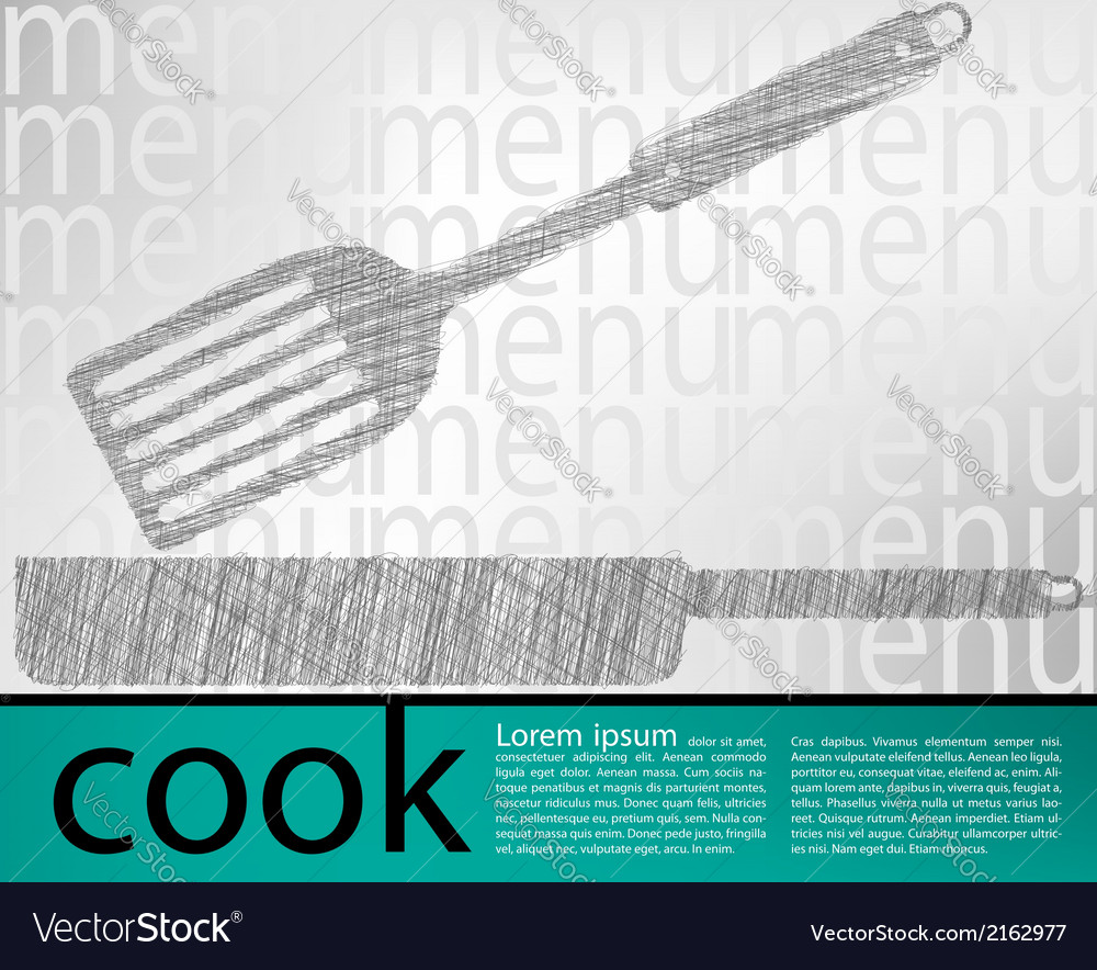 Frying pan kitchen utensils vector | Price: 1 Credit (USD $1)