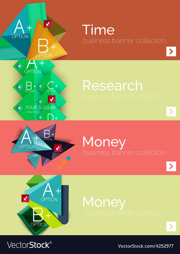 Infographic flat design banner with geometric vector   Price: 1 Credit (USD $1)