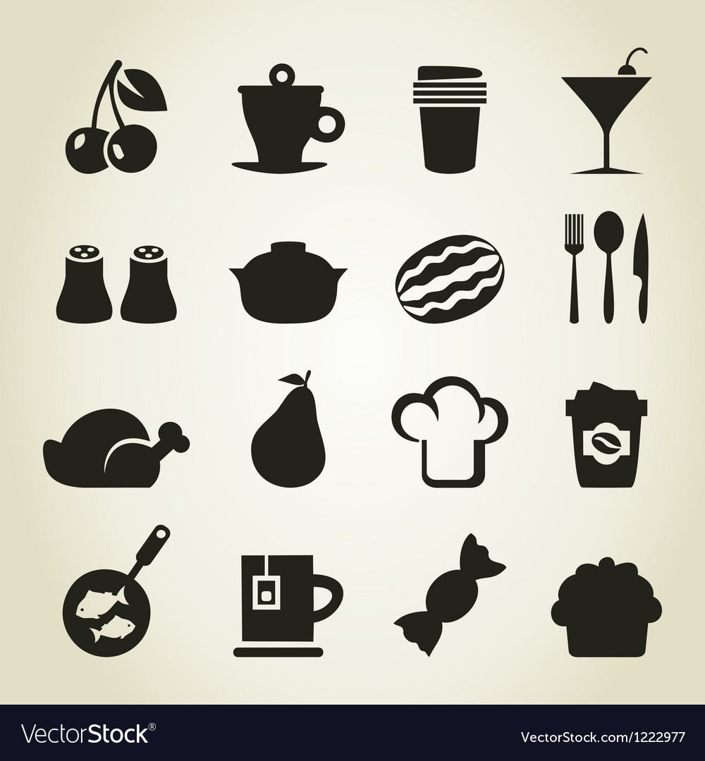 Meal icons9 vector | Price: 1 Credit (USD $1)