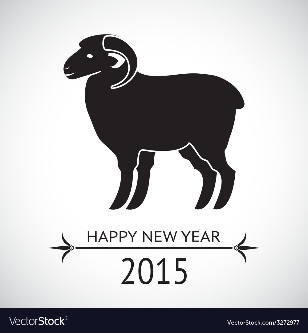 New year sheep vector | Price: 1 Credit (USD $1)