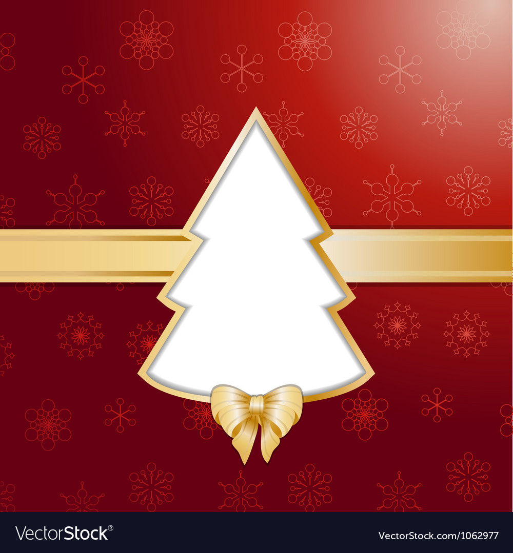 Red christmas tree background and border vector | Price: 1 Credit (USD $1)