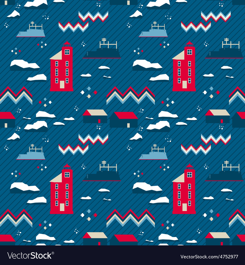 Seamless patternred lighthouse vector | Price: 1 Credit (USD $1)