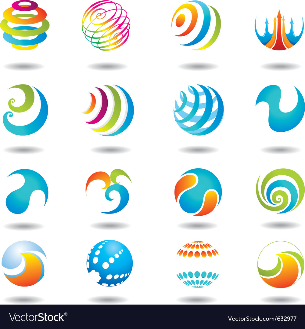 Set of design elements and buttons vector | Price: 1 Credit (USD $1)