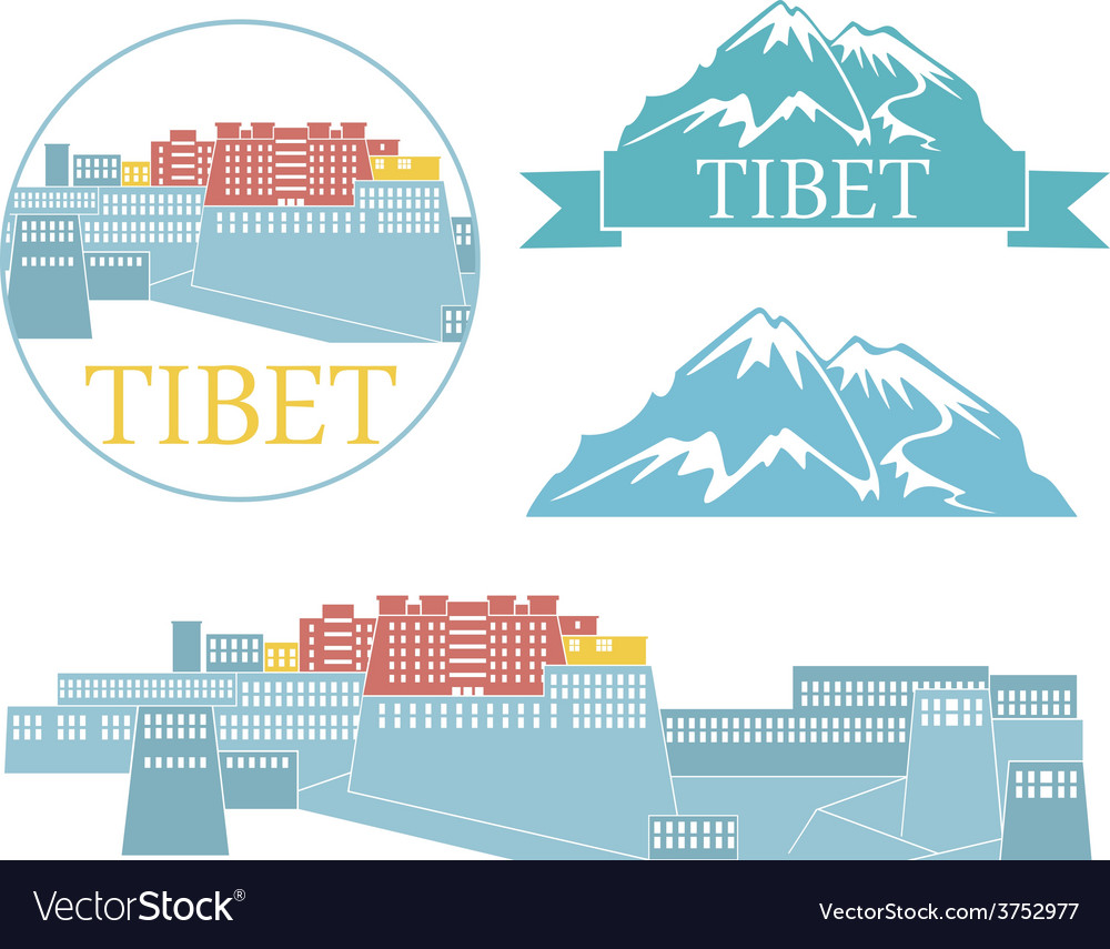 Tibet vector | Price: 1 Credit (USD $1)
