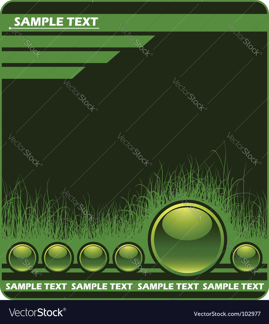 Web background with grass vector | Price: 1 Credit (USD $1)