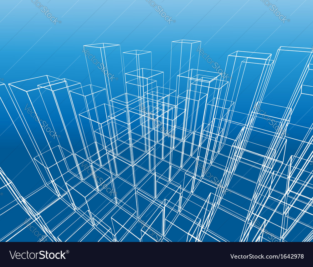 Abstract city construction vector | Price: 1 Credit (USD $1)