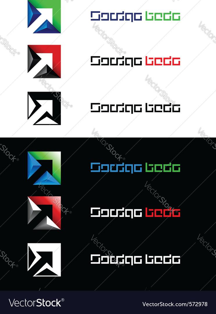 Arrows design element vector