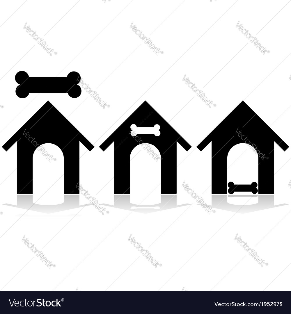 Doghouse vector