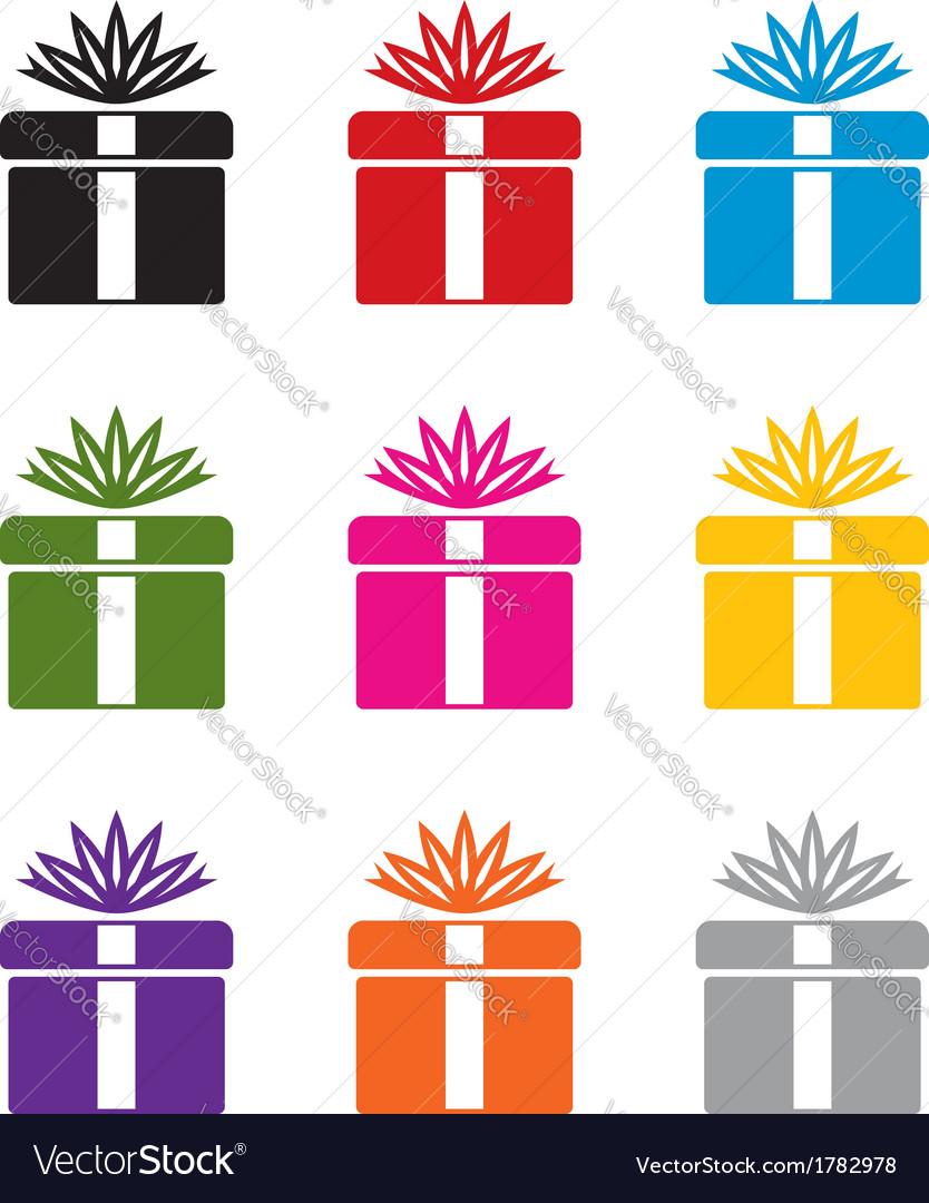 Gift box symbols vector | Price: 1 Credit (USD $1)