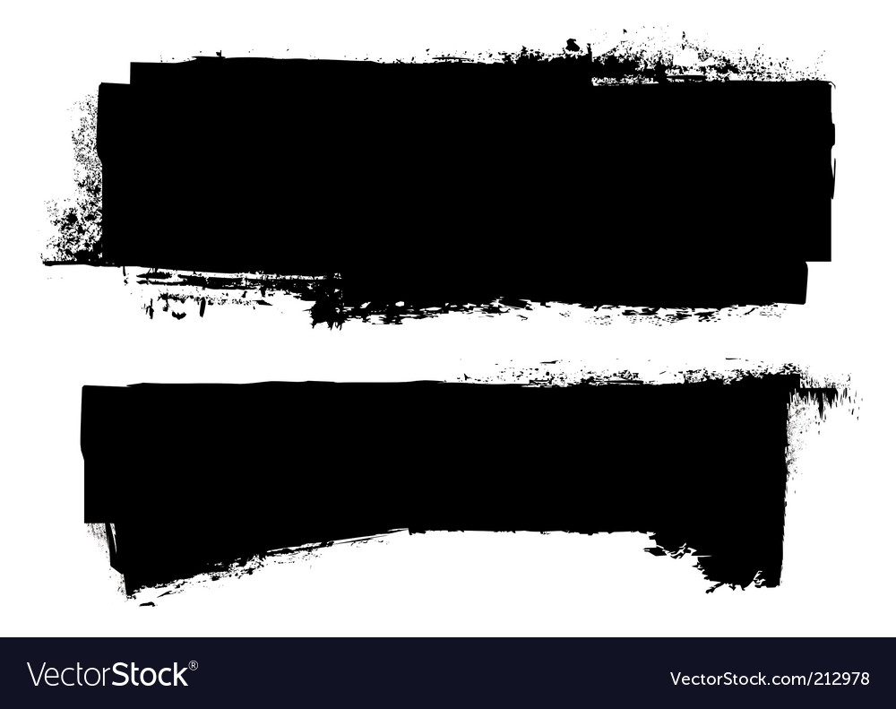 Grunge ink banner vector | Price: 1 Credit (USD $1)