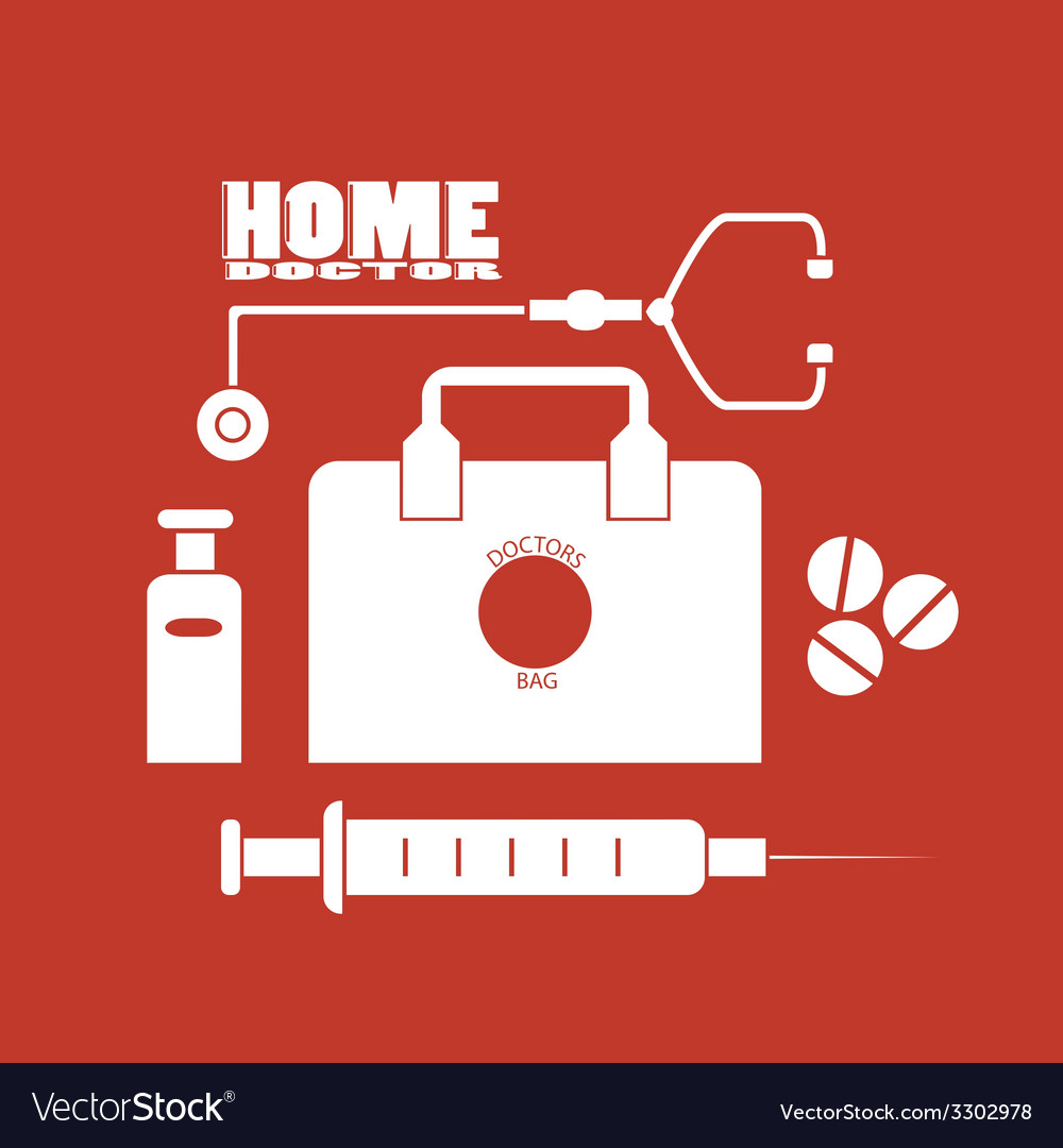Home doctor vector | Price: 1 Credit (USD $1)