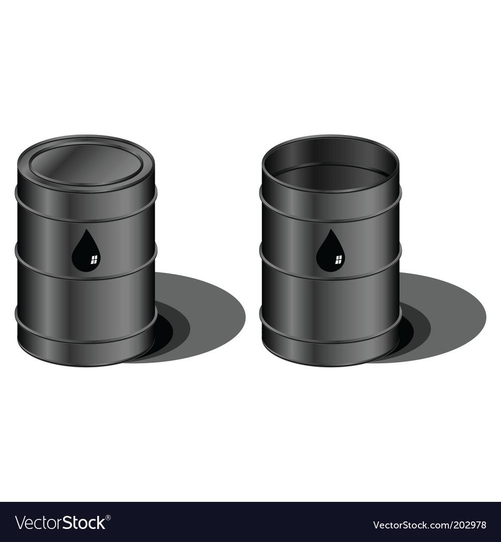 Oil barrels vector | Price: 1 Credit (USD $1)