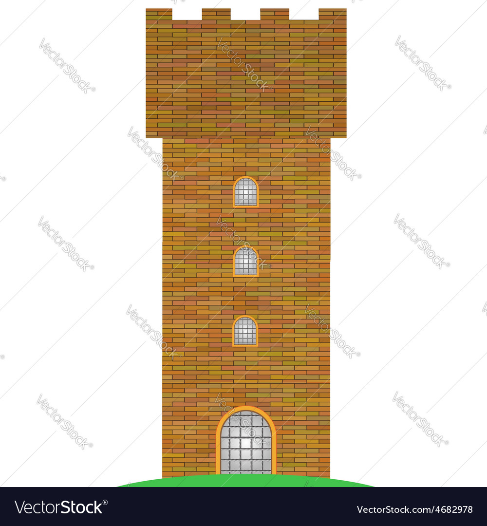 Old brick tower vector | Price: 1 Credit (USD $1)