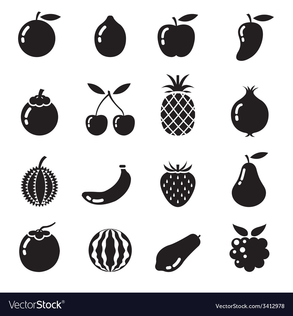 Piece of fruits icon bw vector | Price: 1 Credit (USD $1)