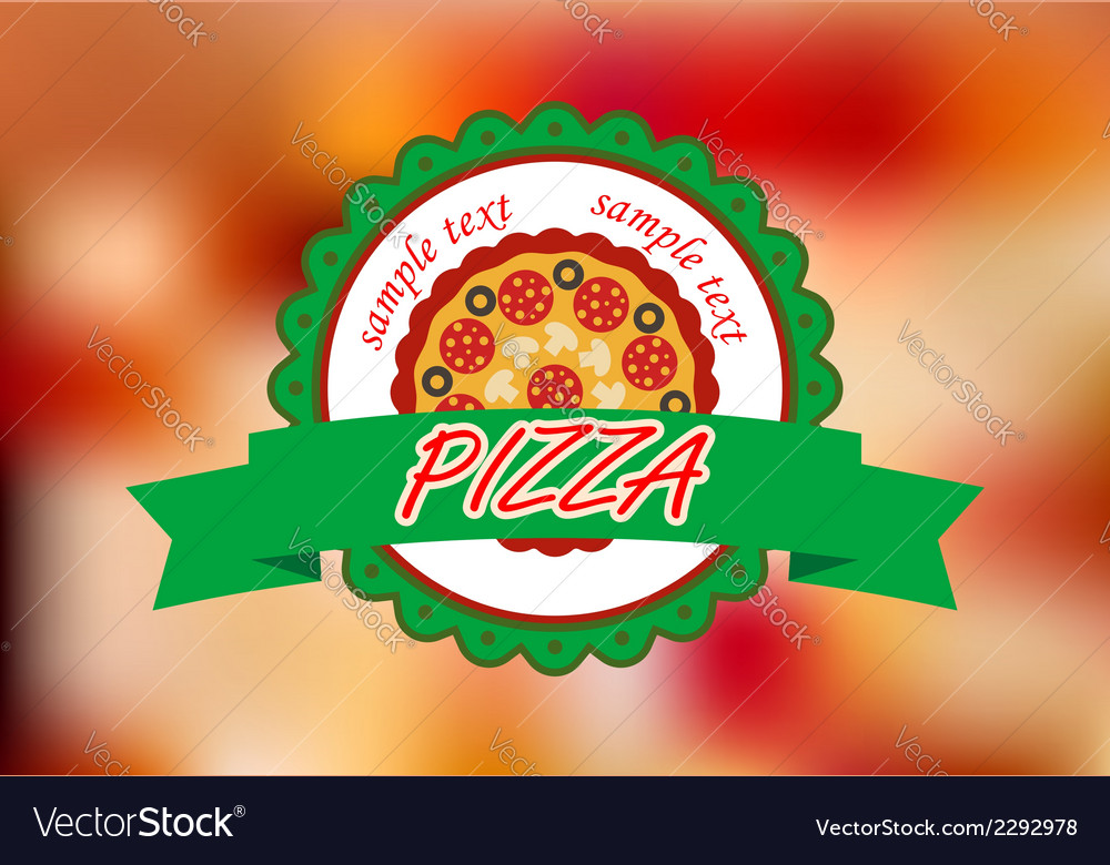 Pizza banner on color background vector | Price: 1 Credit (USD $1)