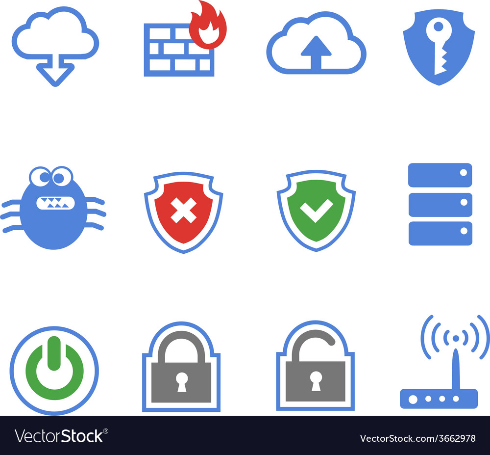 Simplus series icon set network connections and vector | Price: 1 Credit (USD $1)