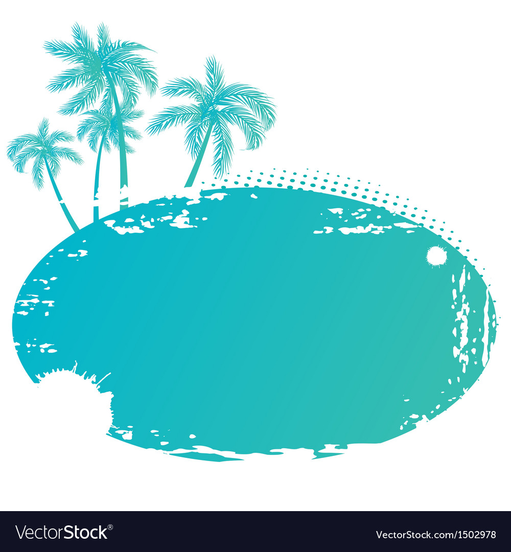 Summer tropical banner vector | Price: 1 Credit (USD $1)