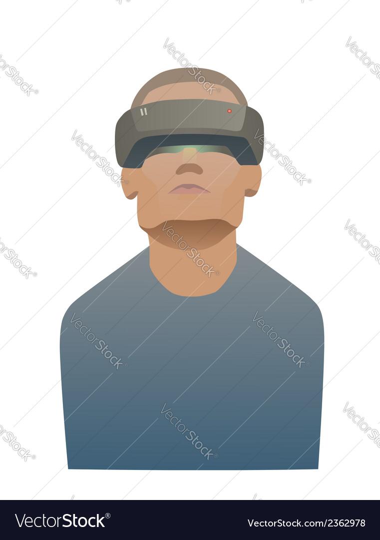 Virtual reality vector | Price: 1 Credit (USD $1)