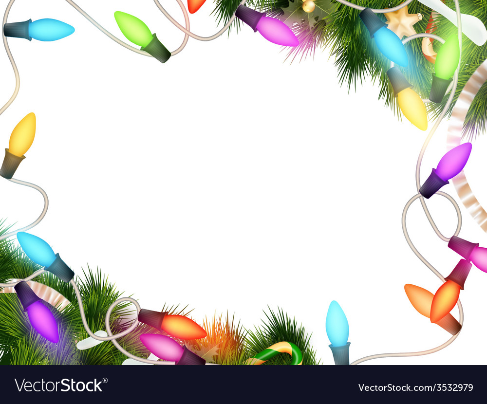 Christmas lights isolated on white eps 10 vector | Price: 3 Credit (USD $3)