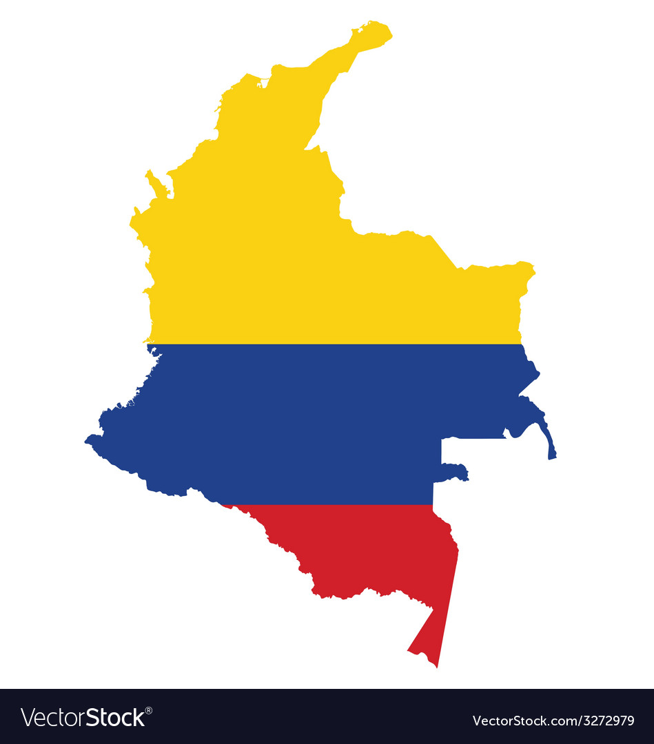 Colombia flag vector | Price: 1 Credit (USD $1)