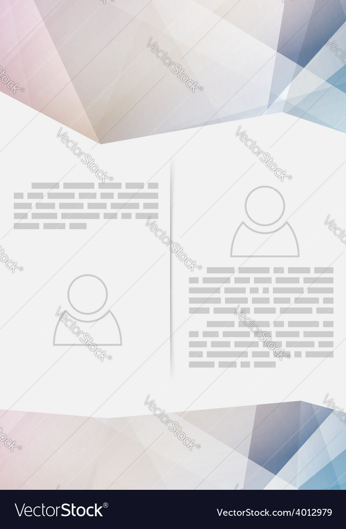 Crystal structure paper modern brochure design vector | Price: 1 Credit (USD $1)