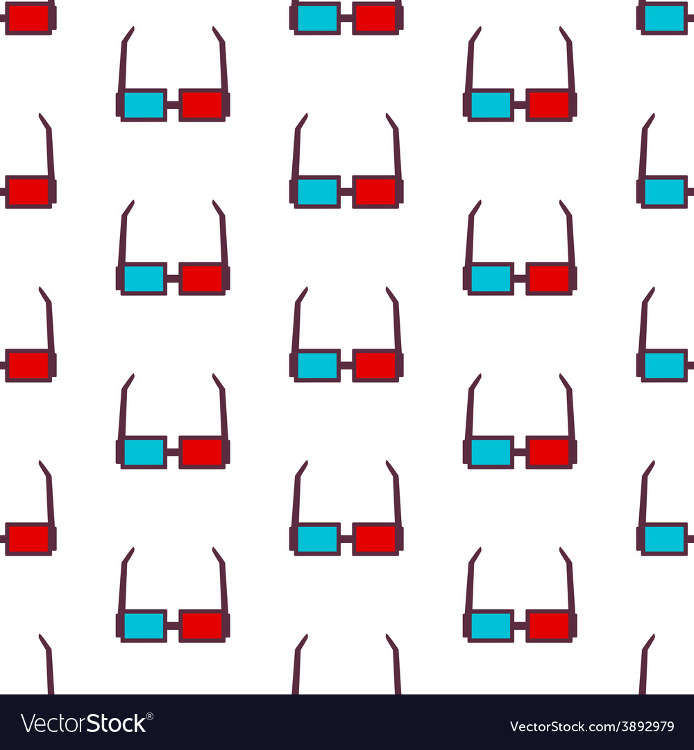 Glasses seamless pattern background vector | Price: 1 Credit (USD $1)