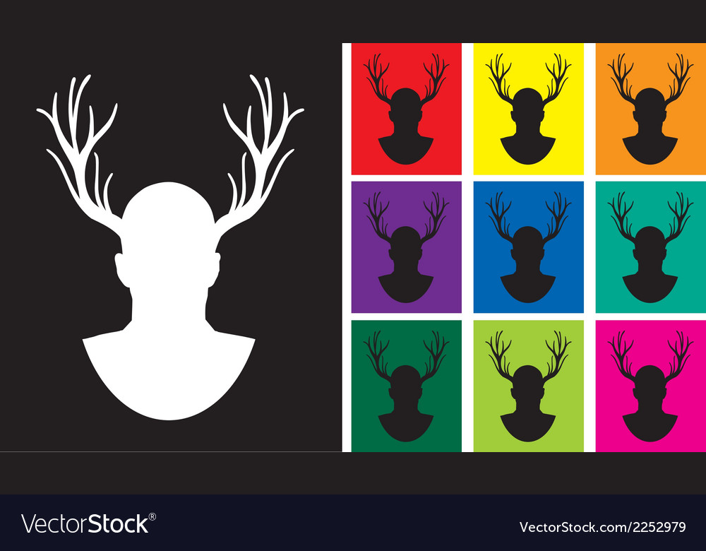 Stag set vector | Price: 1 Credit (USD $1)