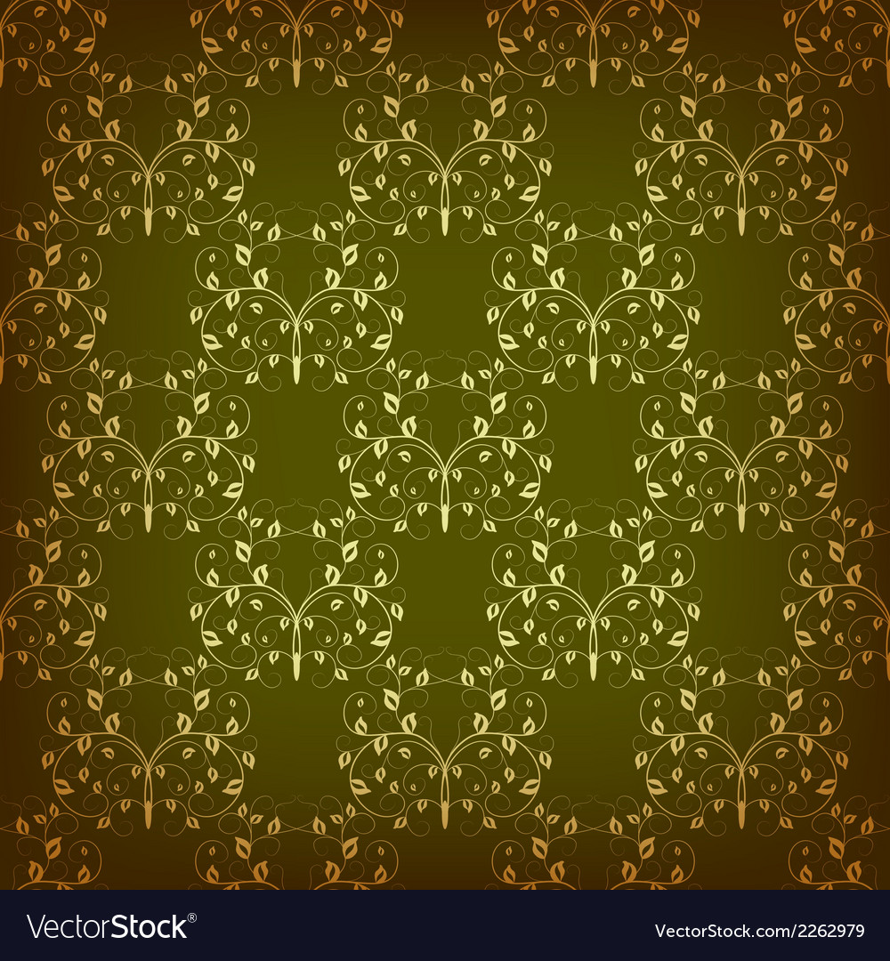 Vintage seamless pattern with swirls vector | Price: 1 Credit (USD $1)