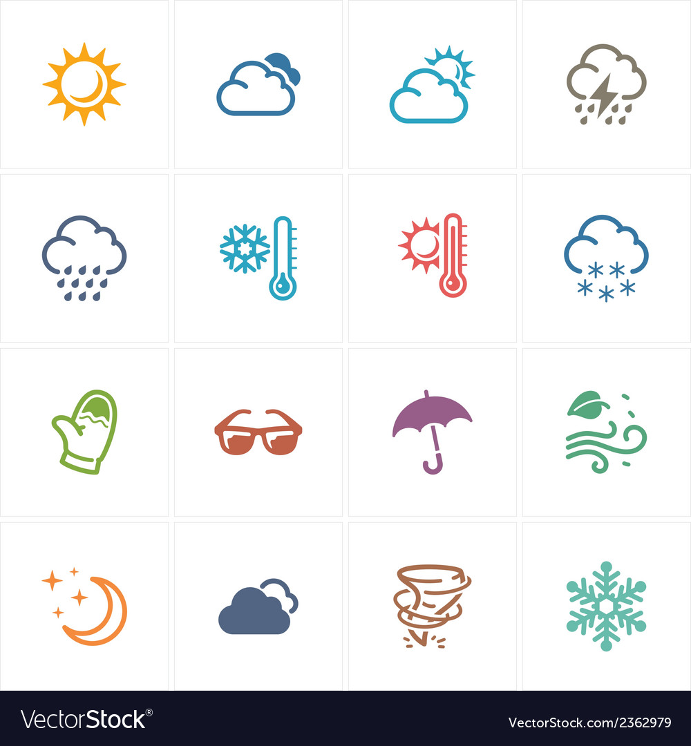 Weather icons - colored series vector | Price: 1 Credit (USD $1)