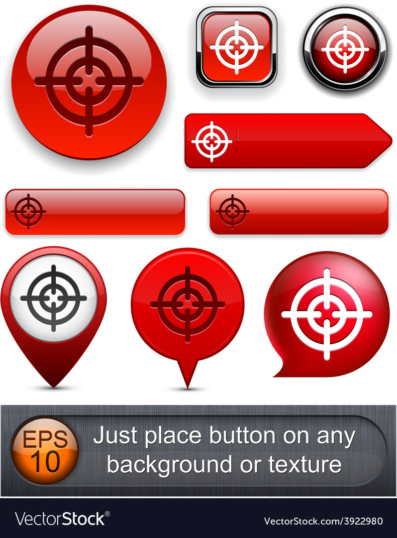 Aim highdetailed modern buttons vector